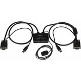 StarTech.com 2 Port USB VGA Cable KVM Switch - USB Powered with Remote Switch - 2 Computer(s) - 1 Local User(s) - 204 (SV211USB)