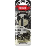 Maxell Classic Earbud with Mic Black