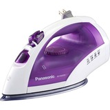 Panasonic Clothes Iron - Stainless Steel Sole Plate - 1200 W - White, Purple
