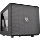 Thermaltake Core V21 Micro Chassis - Cube - Black - SPCC - 6 x Bay - 1 x 7.87IN x Fan(s) Installed - 0 - Mini ITX, Mi (CA-1D5-00S1WN-00)