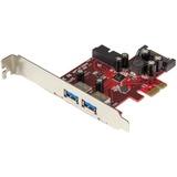 StarTech.com 4-port PCI Express USB 3.0 Card - 2 External, 2 Internal - SATA Power - PCI Express 2.0 x1 - Plug-in Car (PEXUSB3S2EI)