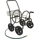 """Liberty Garden 871-S Four Wheel Hose Cart with Flat-Free Tires - 4 Casters - 10"""" Caster Size - 35.5"""" Width x 22"""" Depth x 30.5"""" Height - Steel Frame - Bronze"""