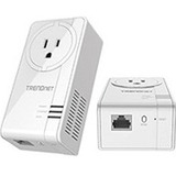 TRENDnet TPL-421E Powerline Network Adapter - 2 - 1 x Network (RJ-45) - 5000 Sq. ft. Area Coverage - 984.25 ft Distan (TPL-421E2K)