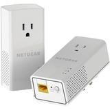 Netgear PLP1200 Powerline Network Adapter - 2 - 1 x Network (RJ-45) - 1200 Mbit/s Powerline - 5382 Sq. ft. Area Cover (PLP1200-100PAS)