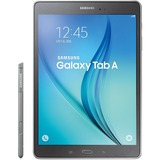 "Samsung Galaxy Tab A SM-P550 16 GB Tablet - 9.7"" - Plane to Line (PLS) Switching - Wireless LAN - Qualcomm APQ8016 Quad-core (4 Core) 1.20 GHz - Smoky Titanium - 1.50 GB RAM - Android 5.0 Lollipop - Slate - 1024 x 768 Multi-touch Screen 4:3 Display -"