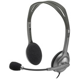 Logitech Stereo Headset H111 - Stereo - Mini-phone - Wired - 32 Ohm - 20 Hz - 20 kHz - Over-the-head - Binaural - Sup (981-000612)