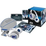 SMS Audio Headset - Stereo - White, Blue - Wired - Over-the-head - Binaural - Circumaural