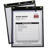 C-Line Products Heavy Duty Super Heavyweight Plus Stitched Shop Ticket Holder, Black, 9x12, 15/BX