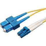 Tripp Lite Duplex Singlemode 8.3/125 Fiber Patch Cable - (LC/SC), 5M (16-ft.)