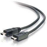 C2G 3ft USB 2.0 USB-C to USB-Mini B Cable M/M - Black