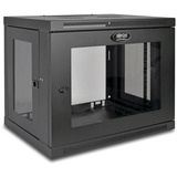 Tripp Lite 9U Wall Mount Rack Enclosure Server Cabinet w/ Acrylic Glass Front Door - 19IN 9U Wide x 16.50IN Deep Wall (SRW9UG)