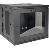 Tripp Lite 10U Wall Mount Rack Enclosure Server Cabinet w/Swinging Door Acrylic Window - 10U Wide Wall Mountable for (SRW10USG)