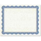Geographics Drama Blue Border Blank Certificates
