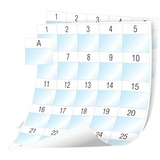 Dymo XTL Cable Wrap Sheet Labels, 41 mm x 42 mm - 1 39/64IN Width x 1 21/32IN Length - Rectangle - White - 30 / Sheet (1908556)