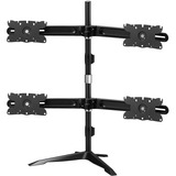 Amer Quad Monitor Stand Mount Max 32IN - Up to 32IN Screen Support - 105.82 lb Load Capacity - 38IN Height x 42IN Wid (AMR4S32)