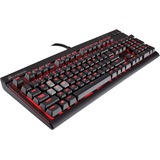 Corsair STRAFE Mechanical Gaming Keyboard - Cherry MX Blue - Cable Connectivity - 104 Key - English, French - Compati (CH-9000226-NA)