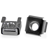 StarTech.com M6 Cage Nuts - 100 Pack - M6 Mounting Cage Nuts for Server Rack & Cabinet - Cage Nut - Stainless Steel - (CABCAGENTS62)