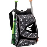 Easton E100XLP Carrying Case (Backpack) for Baseball - Black, Camo - 600D Polyester, 420D Ripstop - Fast Pitch, Honeycomb - Shoulder Strap