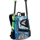 Easton E100P Carrying Case (Backpack) for Gear, Helmet, Glove, Bat, Bottle - Royal, Camo - 420D Ripstop, 600D Polyester - Shoulder Strap