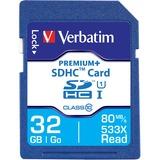 Verbatim 32GB PremiumPlus 533X SDHC Memory Card, UHS-I Class 10