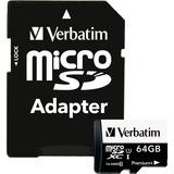 Verbatim 64GB PremiumPlus 533X microSDXC Memory Card with Adapter, UHS-I Class 10
