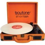boytone Mobile Briefcase Turntable BT-101TBBR - Belt Drive - 33.3, 45, 78 rpm - Brown