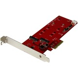 StarTech.com 2x M.2 SSD Controller Card - PCIe - PCI Express M.2 SATA III Controller - NGFF Card Adapter - Serial ATA (PEX2M2)
