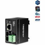 TRENDnet Hardened Industrial 100Base-FX Single-Mode SC Fiber Converter (30 km, 18.6 mi.)