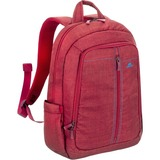 "Riva 7560 Laptop Canvas Backpack 15.6"" Red"