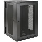 Tripp Lite 18U Wall Mount Rack Enclosure Server Cabinet Swinging Hinged Door Deep - 19IN 18U Wide x 24.50IN Deep Wall (SRW18USDP)