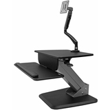 StarTech.com Sit-to-Stand Workstation with Full-Motion Articulating Monitor Arm - One-Touch Height Adjustment - Up to (BNDSTSSLIM)