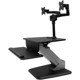 StarTech.com Dual Monitor Sit-to-stand Workstation - One-Touch Height Adjustment - Up to 24IN Screen Support - 38.36 (BNDSTSDUAL)