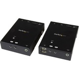 StarTech.com HDMI over CAT5 or CAT6 HDBaseT Extender with USB Hub and IR - 295 ft (90m) - Up to 4K - 1 Input Device - (ST121HDBTU)