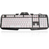 IOGEAR Kaliber Gaming HVER Aluminum Gaming Keyboard - Imperial White - Cable Connectivity - USB 2.0 Interface - 104 K (GKB704L-WT)