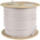 Tripp Lite Cat5e 350 MHz Bulk Solid-Core Plenum-Rated PVC Cable, White, 1000 ft