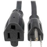 Tripp Lite Heavy-Duty Power Extension Cord, 15A, 14 AWG (NEMA 5-15P to NEMA 5-15R), 15 ft.