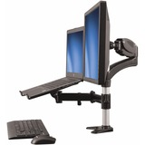 StarTech.com Single-Monitor Arm - Laptop Stand - One-Touch Height Adjustment - Supports a single monitor up to 27IN a (ARMUNONB)