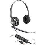 Plantronics Corded Headset with USB Connection - Stereo - USB - Wired - Over-the-head - Binaural - Supra-aural - Nois (203478-01)