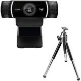 Logitech C922 Webcam - 2 Megapixel - 60 fps - USB 2.0 - 1920 x 1080 Video - Auto-focus - Microphone - Computer, Smart (960-001087)