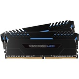 Corsair Vengeance LED 32GB (2 x 16GB) DDR4 DRAM 3000MHz C15 Memory Kit - Blue LED - 32 GB (2 x 16 GB) - DDR4 SDRAM - (CMU32GX4M2C3000C15B)