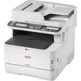 Oki MC363dn LED Multifunction Printer - Color - Plain Paper Print - Desktop - Copier/Fax/Printer/Scanner - 31 ppm Mon (62447601)