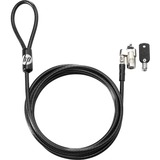 HP Keyed Cable Lock 10mm - Vinyl, Galvanized Steel - 6 ft - For Notebook, Docking Station, Projector, Desktop Compute (T1A62AA)