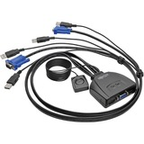 Tripp Lite 2-Port USB/VGA Cable KVM Switch with Cables and USB Peripheral Sharing - 2 Computer(s) - 1 Local User(s) - (B032-VU2)
