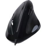 Adesso Vertical Ergonomic Programmable Gaming Mouse With Adjustable Weight - Optical - Cable - USB - 6400 dpi - Scrol (IMOUSE E3)