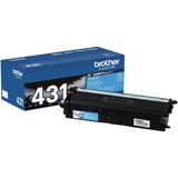 Brother TN431C Original Toner Cartridge - Cyan - Laser - Standard Yield - 1800 Pages - 1 Each (TN431C)