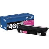 Brother TN433M Original Toner Cartridge - Magenta - Laser - High Yield - 4000 Pages - 1 Each (TN433M)