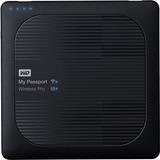 WD 1TB My Passport Wireless Pro Portable External Hard Drive - WiFi AC, SD, USB 3.0 - Wireless LAN - USB 3.0 - 256 MB (WDBVPL0010BBK-NESN)