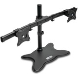 Tripp Lite Dual-Monitor TV Desktop Display Mount Stand Full Motion 13IN- 27IN - Up to 27IN Screen Support - 52 lb Loa (DDR1327SDD)