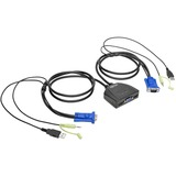 Tripp Lite 2-Port USB/VGA Cable KVM Switch with Audio, Cables and USB Peripheral Sharing - 2 Computer(s) - 1 Local Us (B032-VUA2)