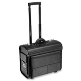 ALL-STATE LEGAL Carrying Case (Roller) Binder, File - Black Black Wheeled Carrying Case, Genuine Leather, 1/PK